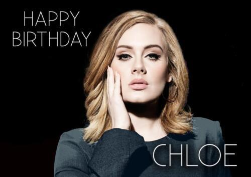 Personalizada Adele Cumpleaños cualquier ocasión Tarjeta
