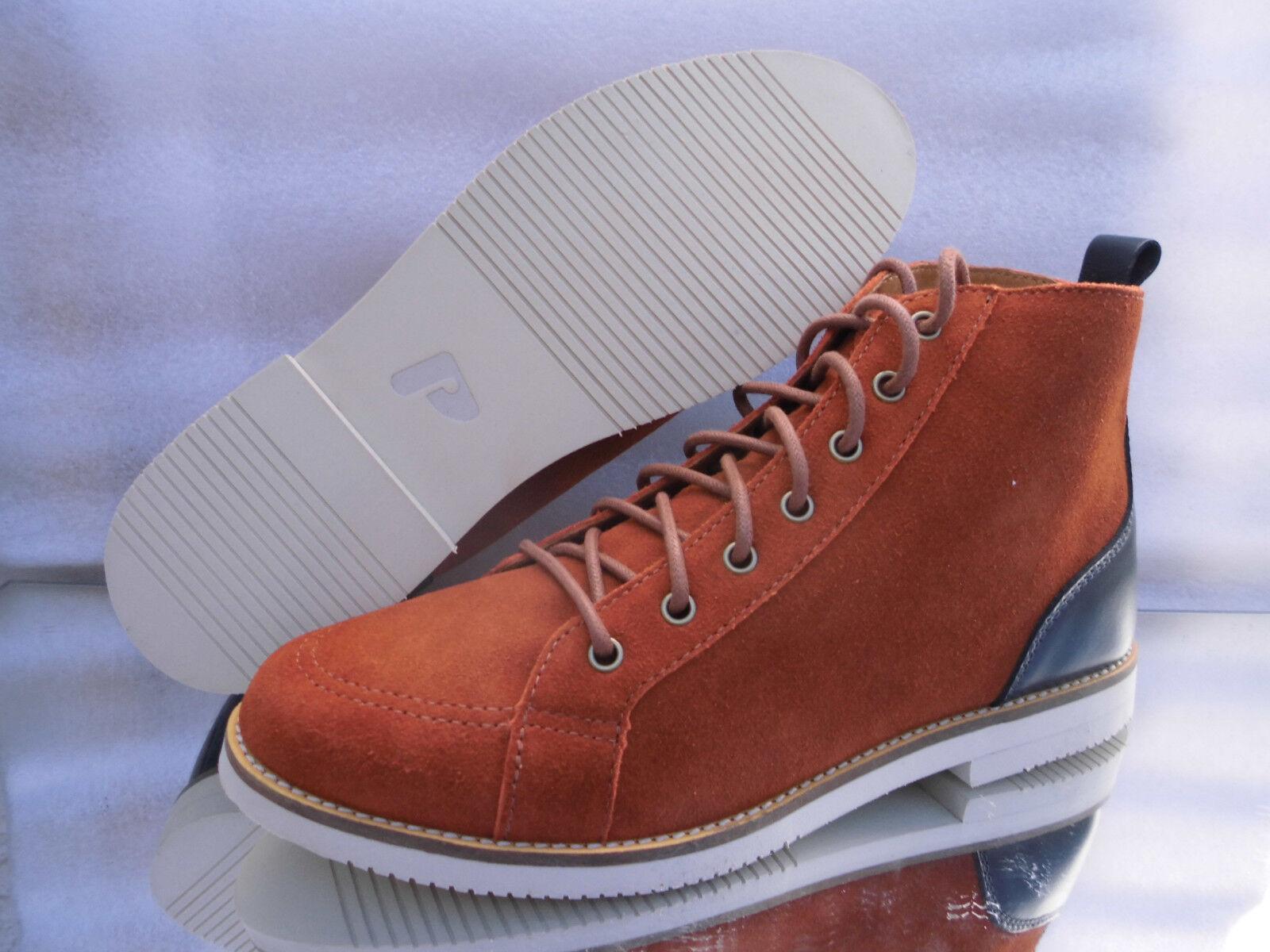 POINTER FRBN LederSchuhe/Stiefel Boots Farbe:Butumn & Black Neu