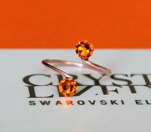 Rose Gold/Gold/Silv<wbr/>er Plated Sun Toe Ring made with Swarovski Crystal Elements