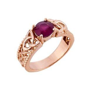 10k rose gold celtic knot garnet gemstone ring january. Black Bedroom Furniture Sets. Home Design Ideas
