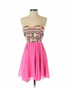 NWT-Style-Rack-Women-Pink-Cocktail-Dress-S