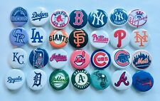 "MLB Baseball Team button pins. Lot of 25. 1"" inch buttons. Amazing Gift."