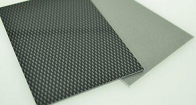 3mm Black Carbon Fibre Effect ABS Sheet A6 A5 A4 A3  model car trim plastic vac