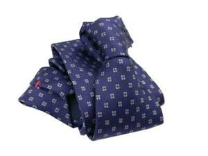 Blu In Anche Stampata Seta Pochette Blau Blue Quadretti Grigi Con Cravatta Cravatte dXqwTfAYdx