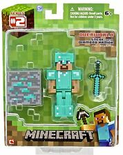 "Minecraft Overworld Diamond Steve 3"" Articulated Action Figure BNIP"