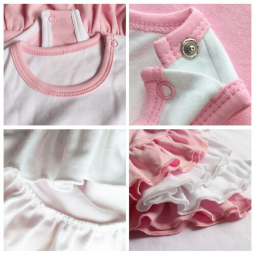 Fun Day Sunday Newborn Baby Girls Dress Toddler Infant 100/% Cotton Clothes