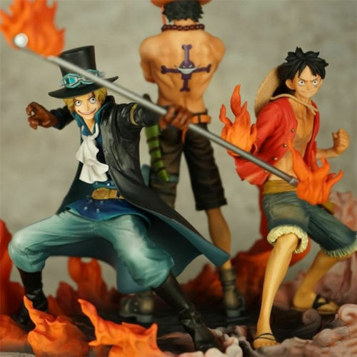 Anime One Piece Attack Styling Luffy Ace Sabo Brother 3pcs