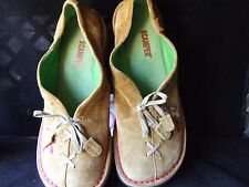 Camper BROWN  Suede   Flowers US 9....... 39 EU MADE IN MOROCCO ...........LOC51