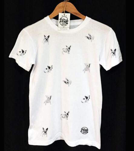 VINTAGE CLOTHING UNISEX FRENCH BULLDOG PATTERN T-SHIRT ORIGINAL DESIGN