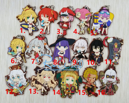T1363 Anime Fate//Grand Order rubber Keychain Key Ring Straps Rare cosplay