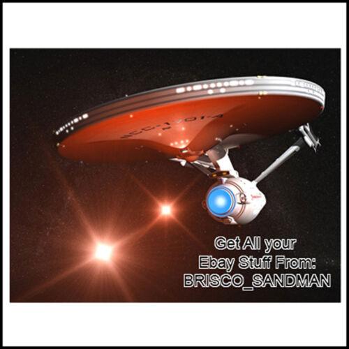 Fridge Fun Refrigerator Magnet STAR TREK USS ENTERPRISE Photo C NCC-1701-A movie