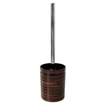 Braune WC-Bürste Klobürste WC-Garnitur mit schönem Holzdekor Badserie ETNIC