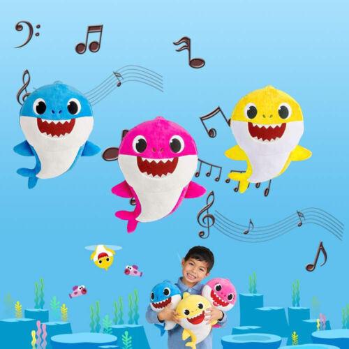 Baby Shark Singing Plush Toy Music Doll English Song Kids Fun Gift