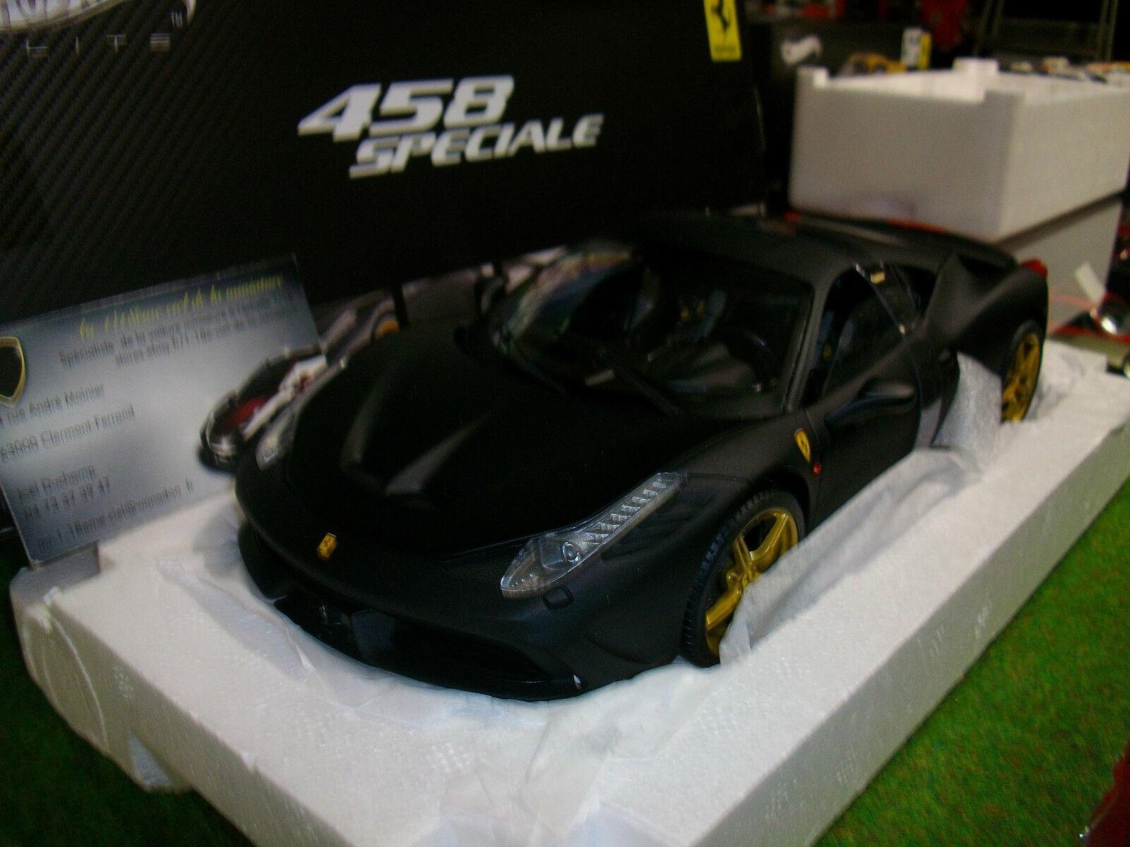 FERRARI 458 SPECIAL noir matt au 1 18 d HOT WHEELS ELITE BLY33 voiture miniature