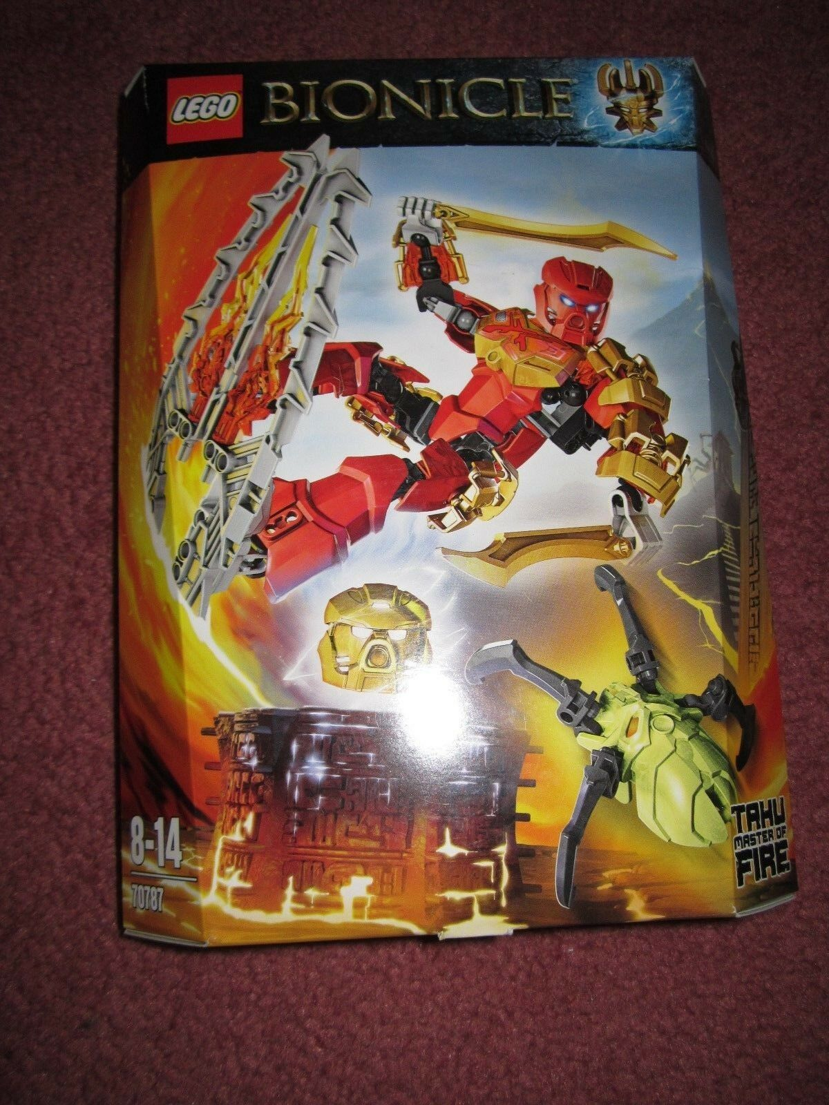 LEGO BIONICLE TAHU MASTER OF FIRE 70787 - NEW BOXED SEALED