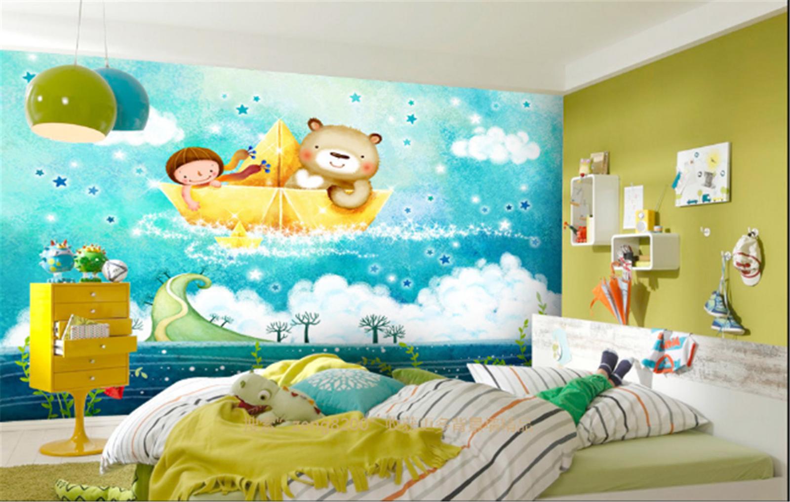 3D Ozean Segeln Bär Kind 933 Tapete Wandgemälde Tapeten Bild Familie DE Lemon  | Authentisch  | Charakteristisch  | Louis, ausführlich