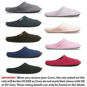 Details zu Crocs Classic Slipper Fleece Lined Roomy Fit Clogs Shoes in All Sizes 203600