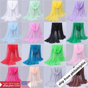 NEW-Fashion-Women-Long-Soft-Wrap-Lady-Shawl-Chiffon-Silk-like-Scarf-Scarves