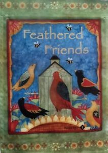"Feathered Friends Welcome Garden Flag by Toland, 12.5"" x 18"",  #7351"