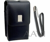 Canon Leather Carrying Case Bag & Wrist Strap For Powershot Elph Digital Cameras