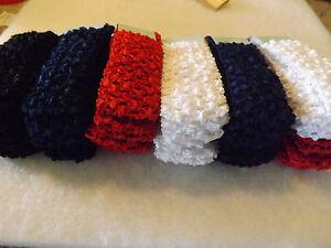 Red . Wholesale 48 pcs Girls Baby Crochet Headband With 1.5 inch Acrylic