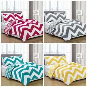 Chezmoi-Collection-Bedding-Reversible-Chevron-Zig-Zag-Comforter-Set-All-Size