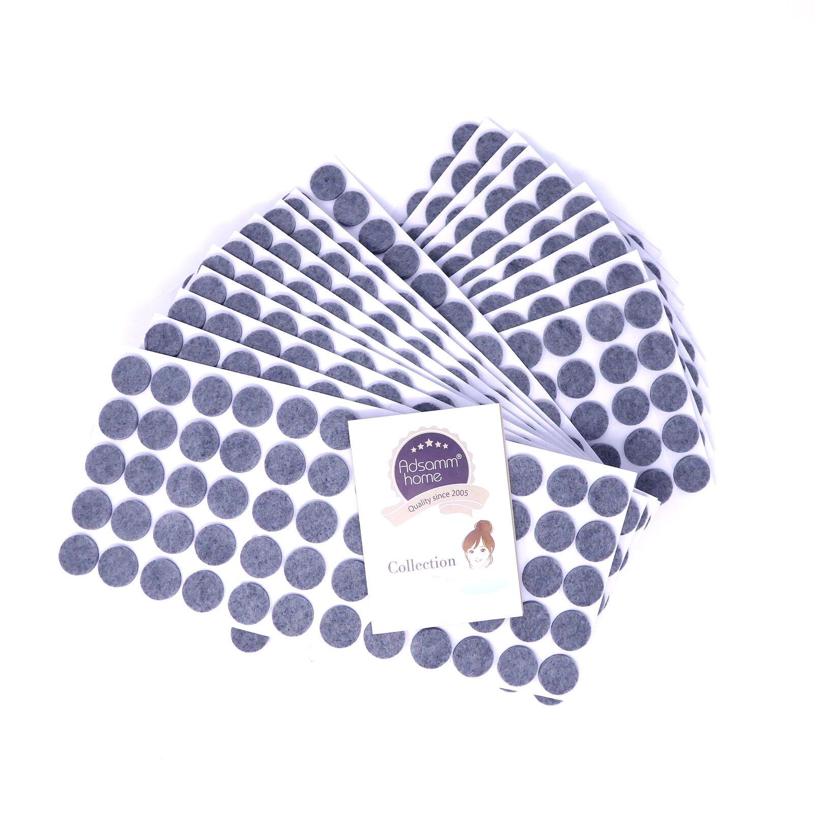 1200 x Felt-pads   Ø 0.79'' (Ø 20 mm)   grau   round   self-adhesive furniture g