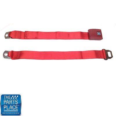 Camaro 1967-1969 Standard 2pt Red Lap Bucket Seat Belt Kit 2 Belts Chevy GM AM