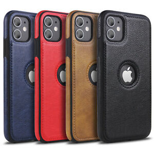 MiKKi-Leder-Synthetisch-Business-Handy-Schutzhulle-Case-f-Apple-iPhone-Serie