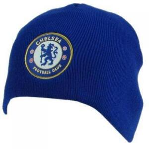 ca9425851e1 CHELSEA FOOTBALL CLUB FC OFFICIAL BEANIE KNITTED HAT ROYAL BLUE NEW ...