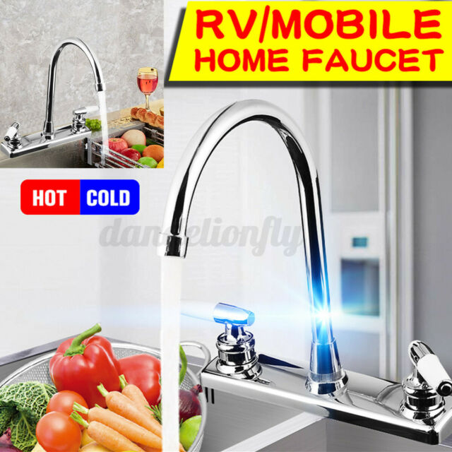 360 Copper Double Handle Bathroom Kitchen Sink Faucet Water Hot Cold Mixe Tap For Sale Online Ebay