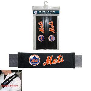 NEW YORK METS 2 VELOUR SEAT BELT LAPTOP GYM BAG SHOULDER PADS MLB BASEBALL