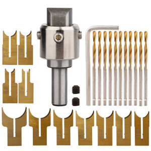 26X Milling Cutter Wooden Beads Drills Carbide Router Bit Blade Woodworking Tool