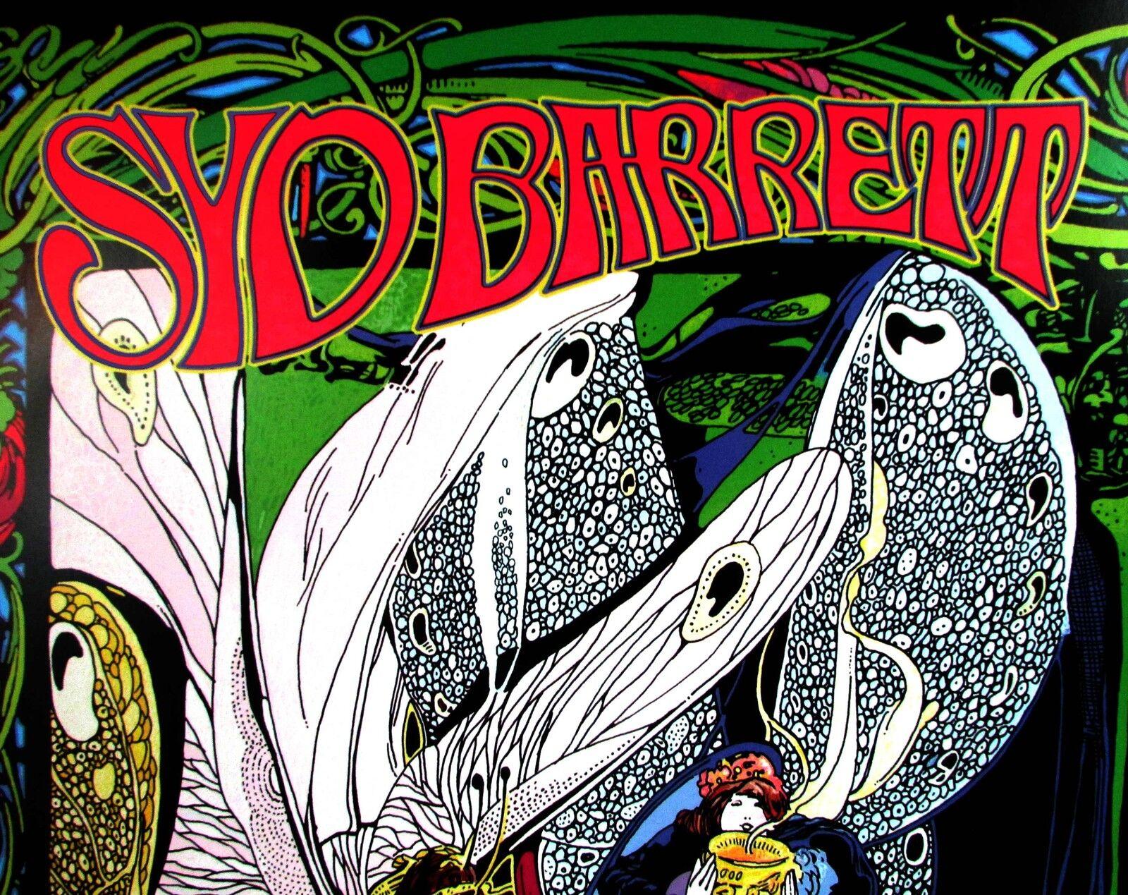 BOB MASSE SYD BARRETT COMMEMORATIVE ROCK POSTER SIGNED BY ARTIST