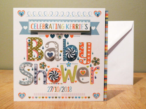 Baby Shower Carte Félicitations Baby Shower personnalisé Carte Pour Baby Shower