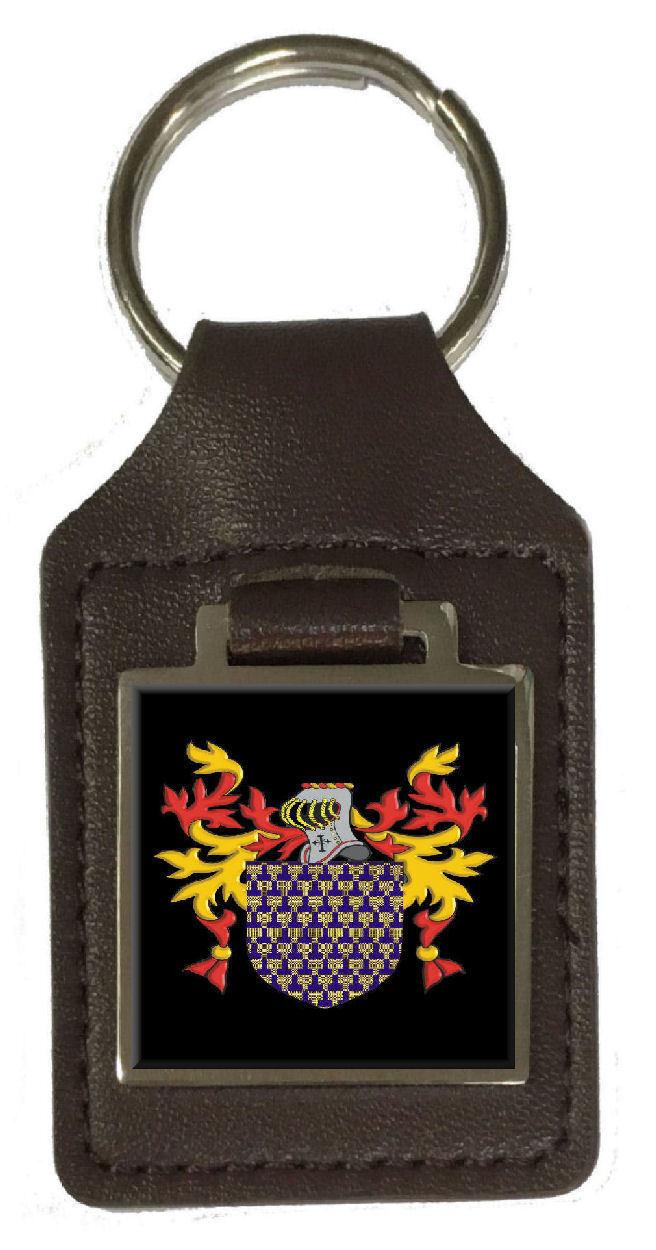 Maidment Familie Wappen Familienname Braunes Leder Schlüsselanhänger Graviert | Haben Wir Lob Von Kunden Gewonnen