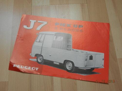 catalogue PEUGEOT J7 Pick up 2 places 1968