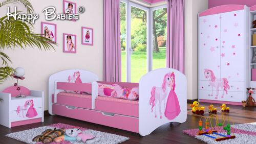 """3-teiliges Set Jugendzimmer Kindermöbel Zimmermöbel /""""Prinzessin mit Pferd/'/' rosa"""