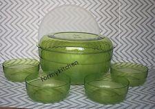 Tupperware Acrylic Preludio Serving Bowls Set Sheer Green New!!!!