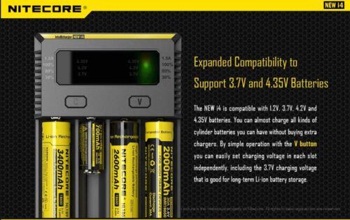 Nitecore i4 Intellicharger Universal Li-ion Ni-MH Ni-Cd Battery Charger 1.5v 3.7