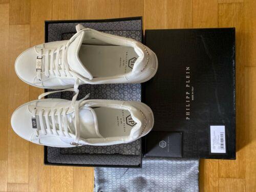 Philipp Plein lo-Top sneakers-tamaño 45-White/níquel original! top estado