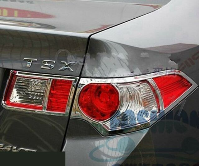 4X Chrome Rear Tail Light Lamp Cover Trim For 2009-2014