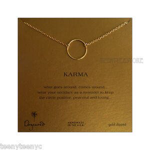 Dogeared-14K-Gold-Dipped-Large-Smooth-Karma-amp-Gold-Filled-18-034-CABLE-Chain-Boxed