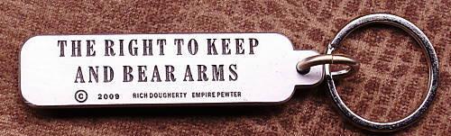 Keyring Clip Empire Pewter Thompson Gun Keychain