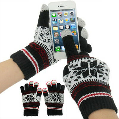 Handschuhe für Touch Screen Handy Tablet IPad IPhone Dot Gloves onesize Schwarz