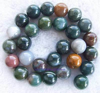 "India Muliti-colourSmooth Round Agate Gemstone Beads15""4mm6mm8mm10mm12mm14mm16mm"