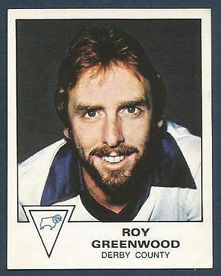 TRANSIMAGE FOOTBALL 79//80-#107-DERBY COUNTY-SUNDERLAND-HULL CITY-ROY GREENWOOD
