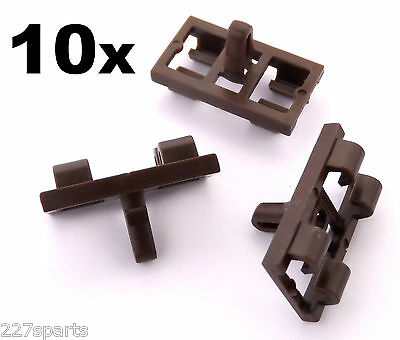 10x BMW X5 E53 Lower Door Weatherstrip Rubber Seal Clips- Brown