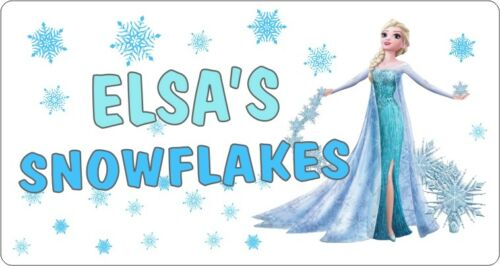4 designs ELSA SNOWFLAKES CHRISTMAS TREE Sticker Label Xmas Fun Gift Seal X6970