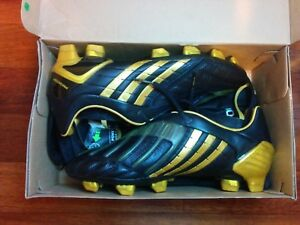 get new 100% authentic sells Details about Adidas Predator Powerswerve TRX FG Rome Black Gold No 034934  Size US9